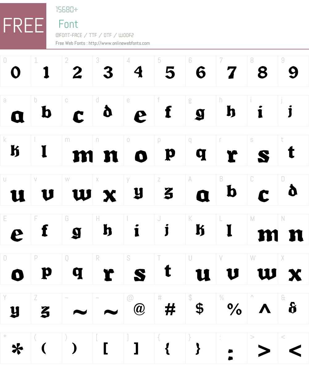 Multikultur Font Screenshots