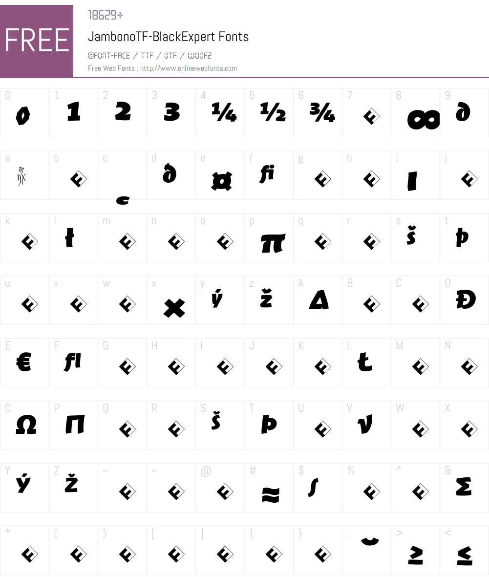 JambonoTF-BlackExpert Font Screenshots
