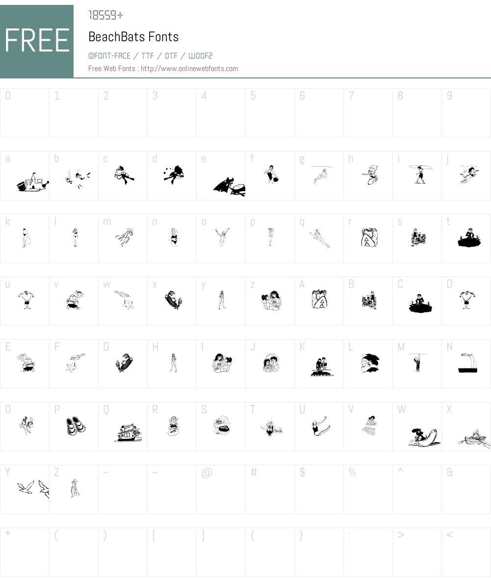 BeachBats Font Screenshots