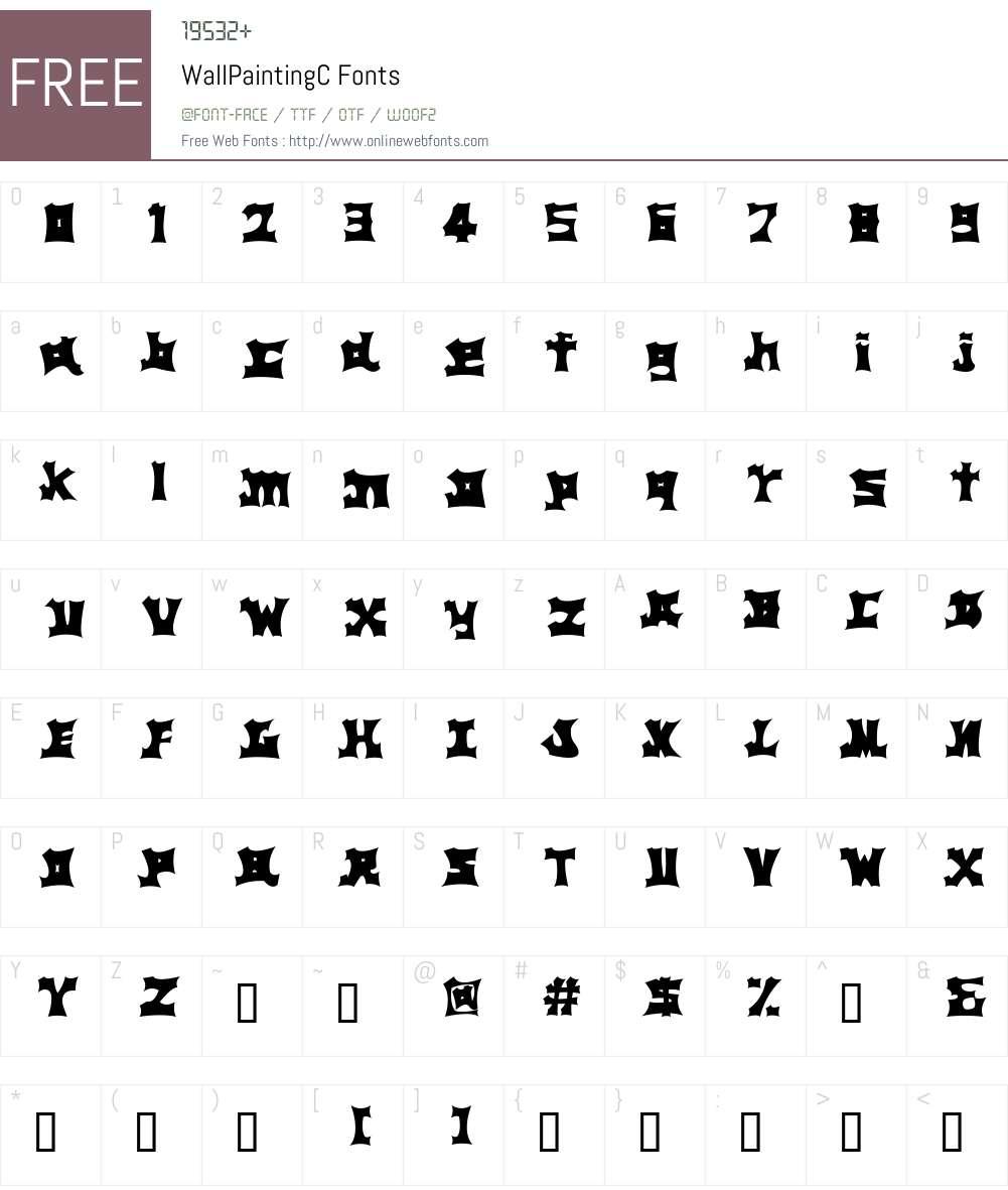 WallPaintingC Font Screenshots