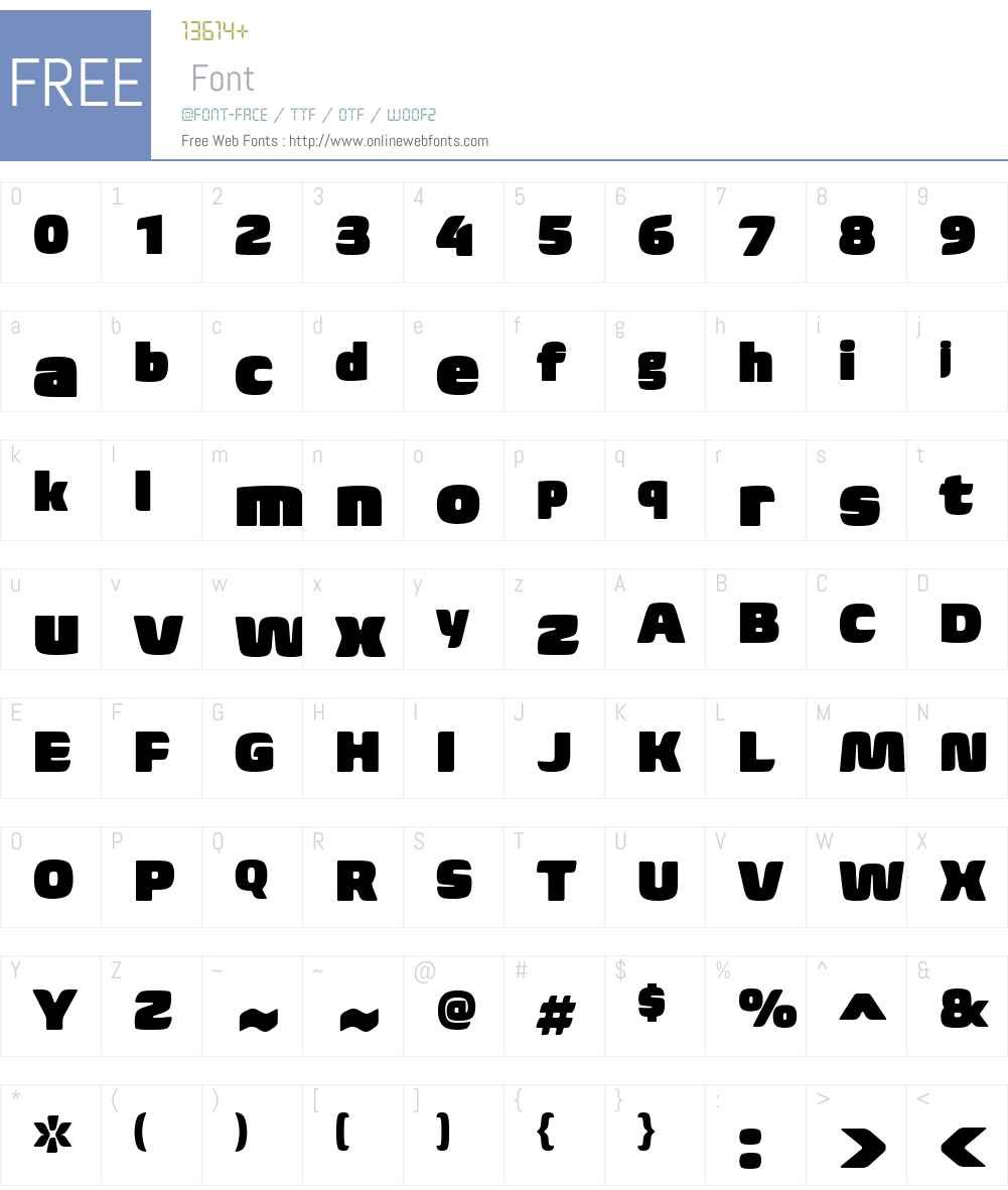 Biome Font Screenshots