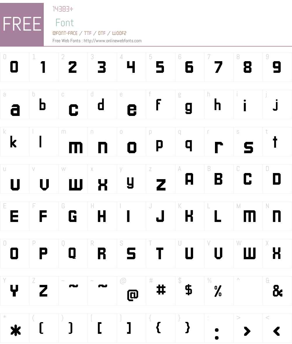 Upsilon Font Screenshots