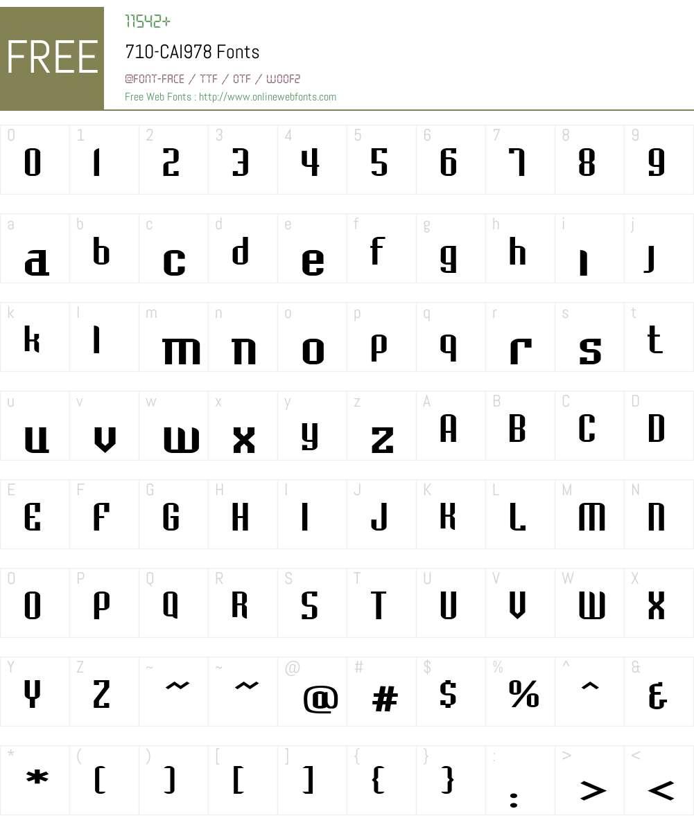 710-CAI978 Font Screenshots