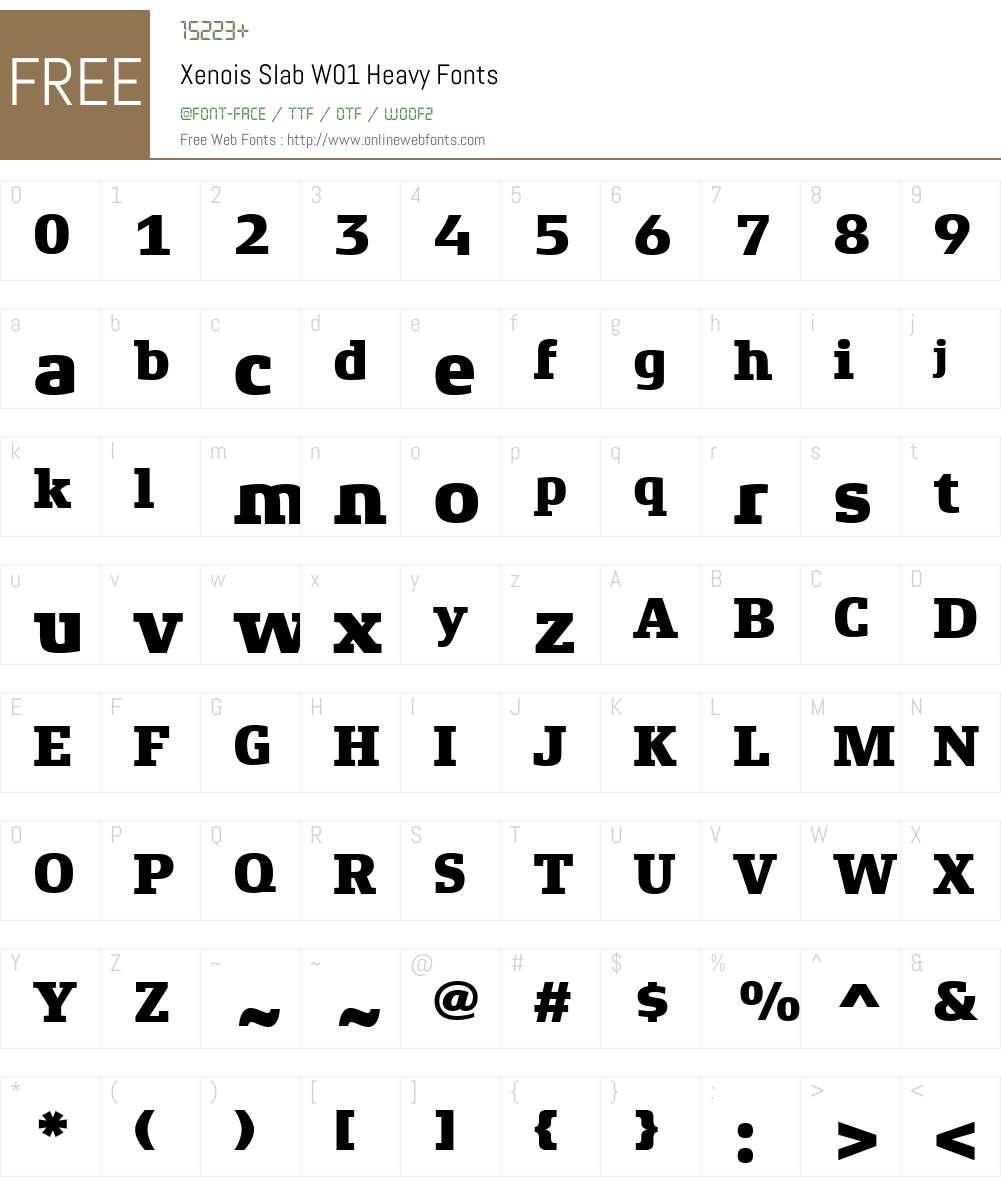 XenoisSlabW01-Heavy Font Screenshots