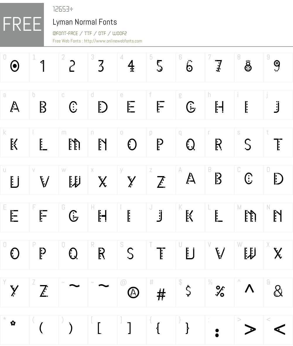 X Font Screenshots