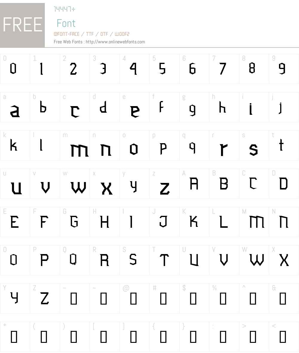 Jubiaco Font Screenshots