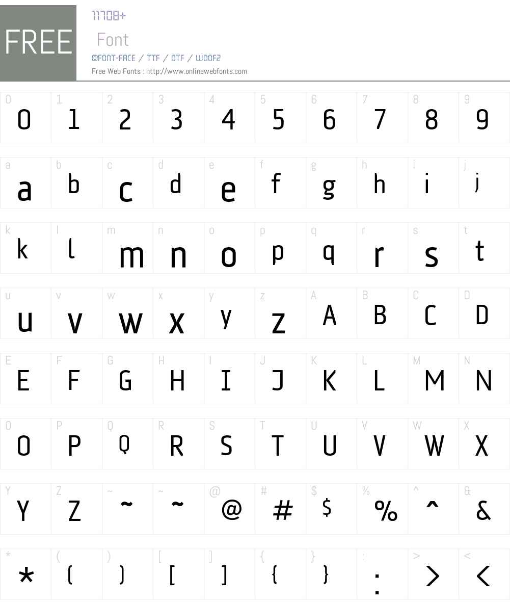 AFKlampenborg Font Screenshots