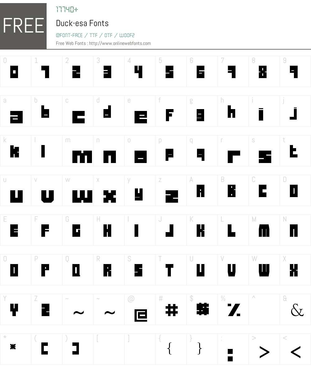 Duck-esa Font Screenshots