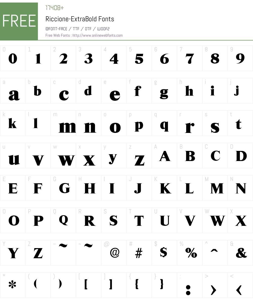 Riccione-ExtraBold Font Screenshots