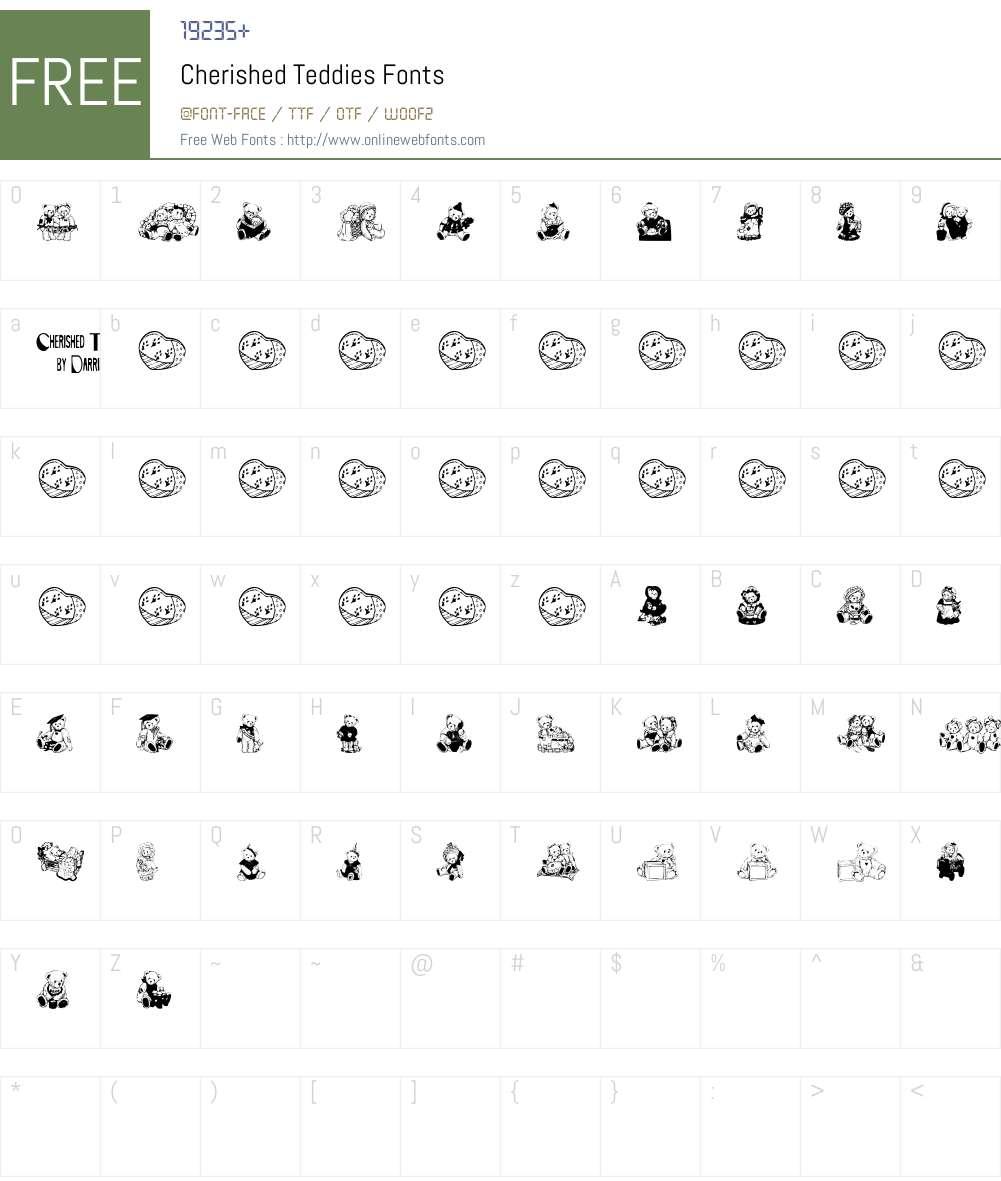 Cherished Teddies Font Screenshots