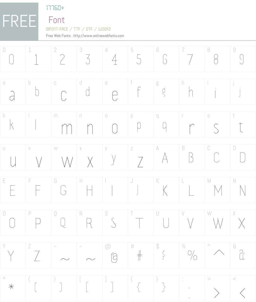 Prevya Display Font Screenshots