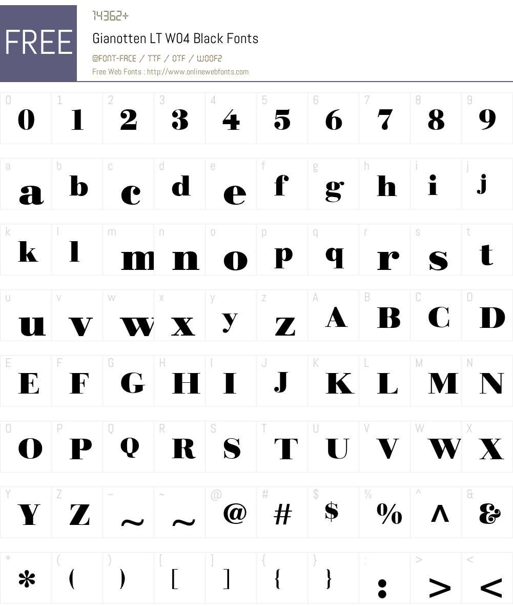 Linotype Gianotten Font Screenshots