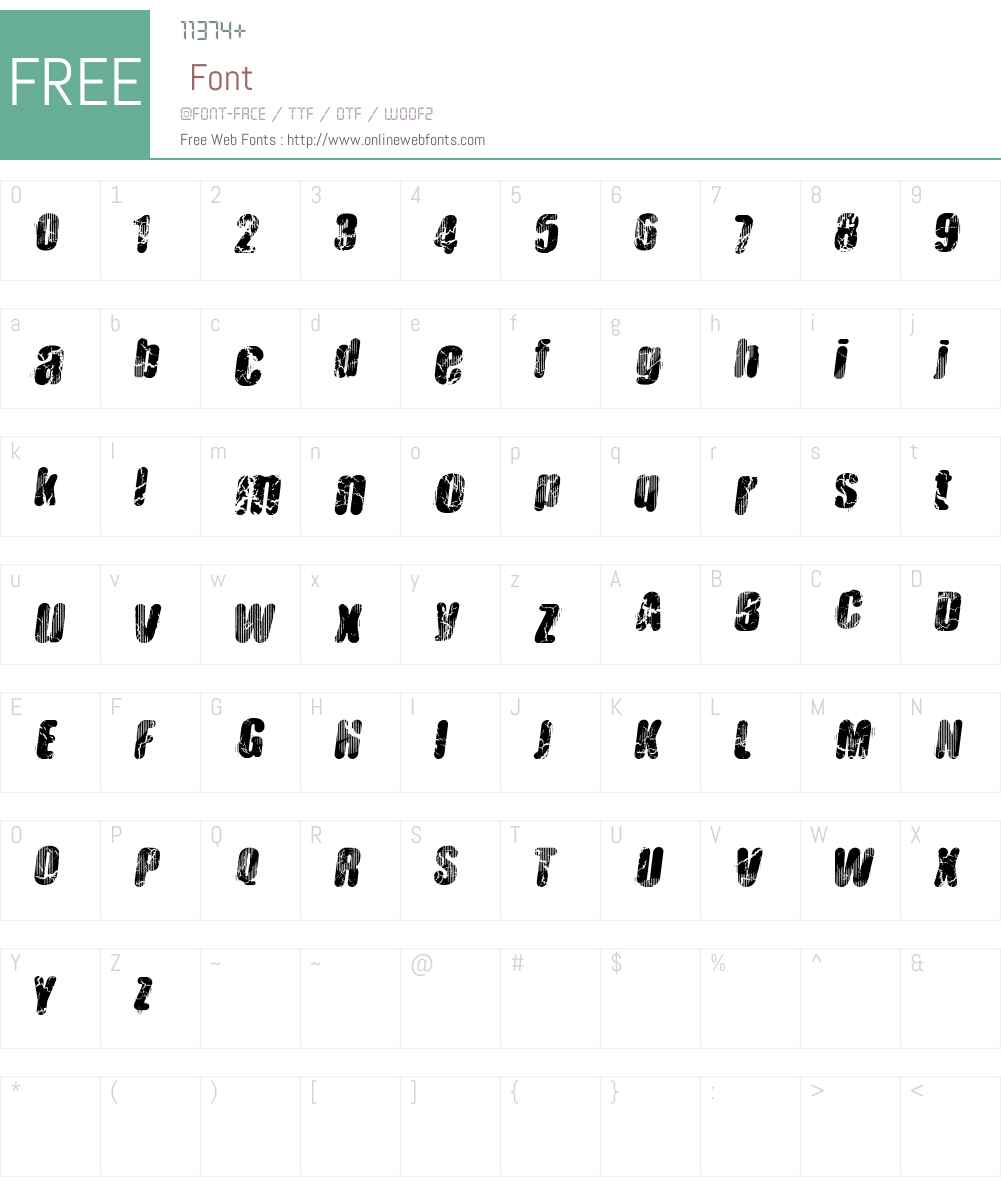 Vtks Hardness Font Screenshots