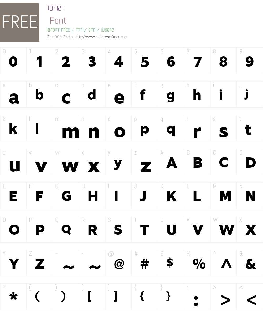 EquipW03-ExtraBold Font Screenshots