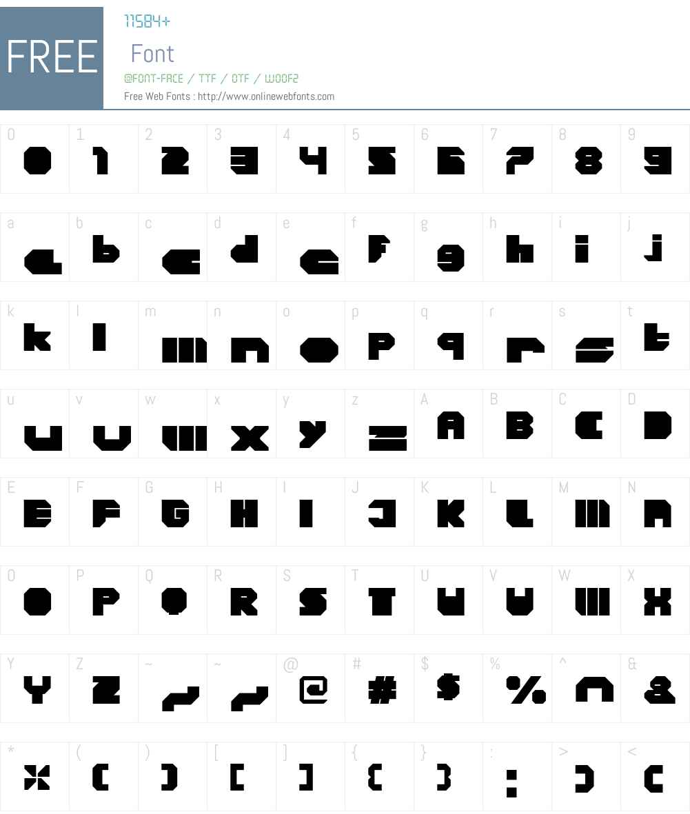 CorTenClosedW00-Fat Font Screenshots