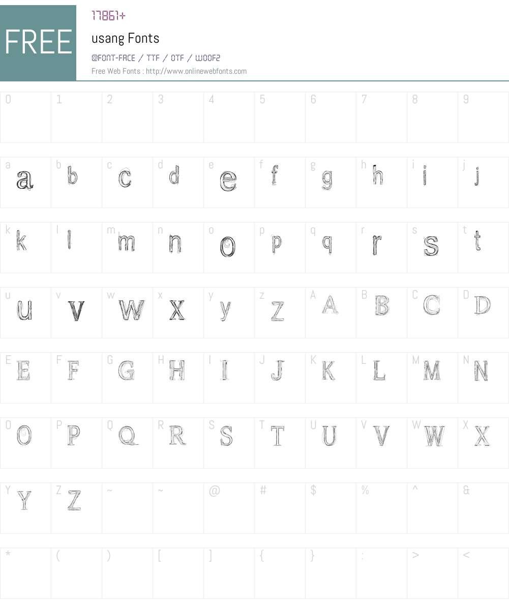 usang Font Screenshots
