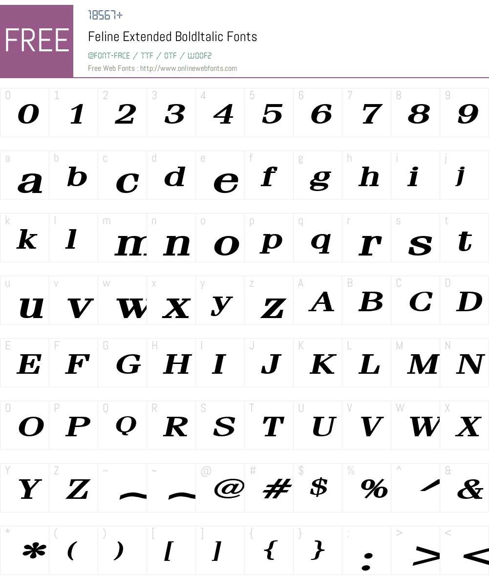 Feline Extended Font Screenshots