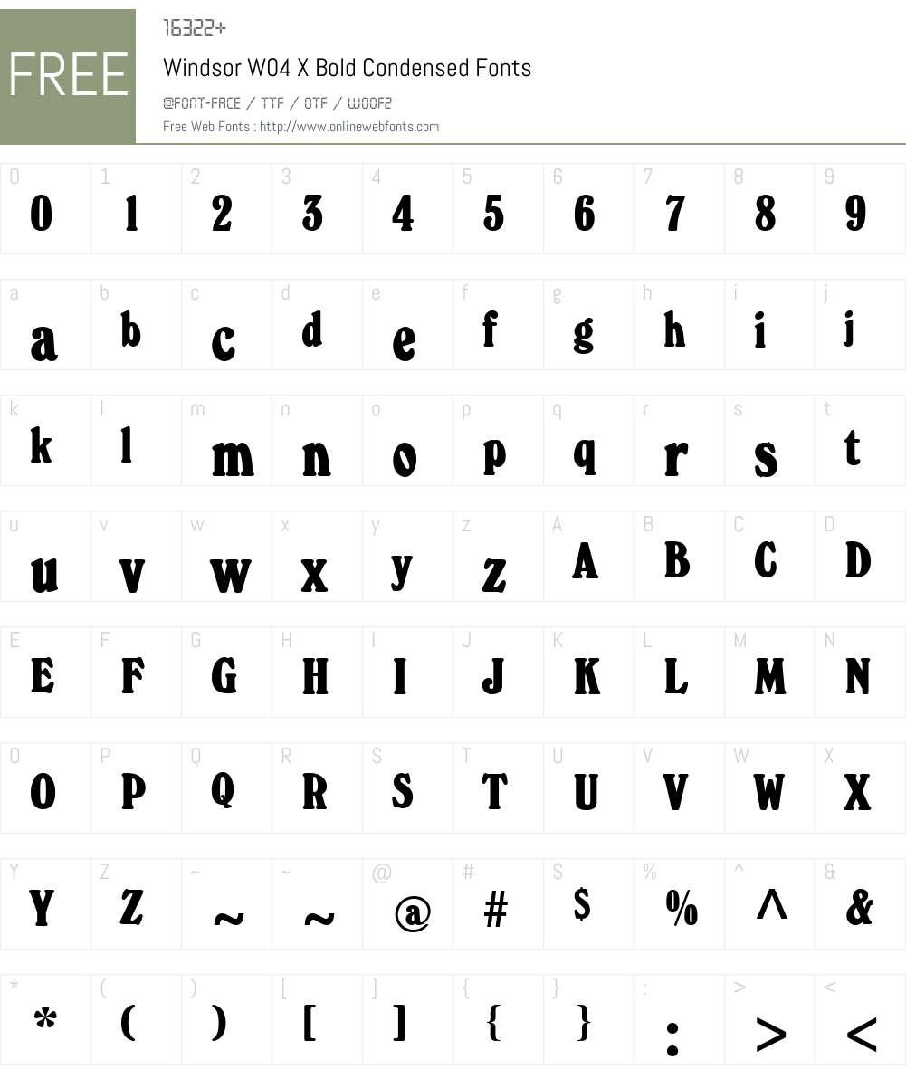 Windsor Font Screenshots