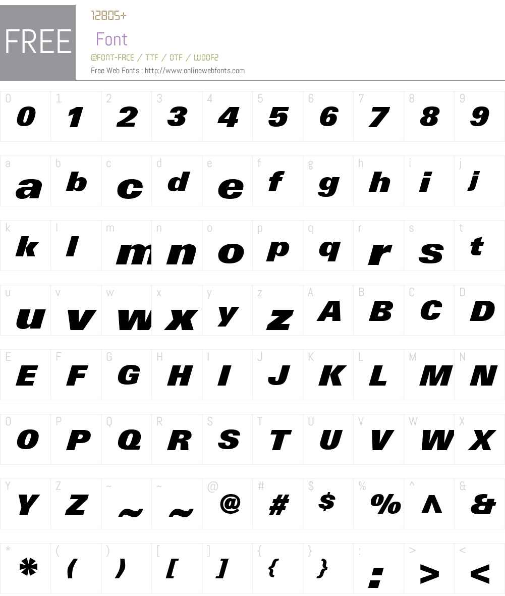LinotypeUniversW01-XBkIt Font Screenshots