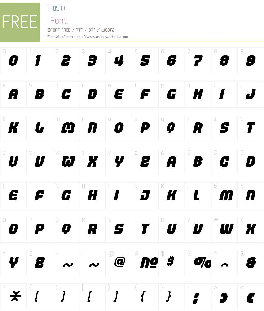 JudgementW00-BlackItalic Font Screenshots