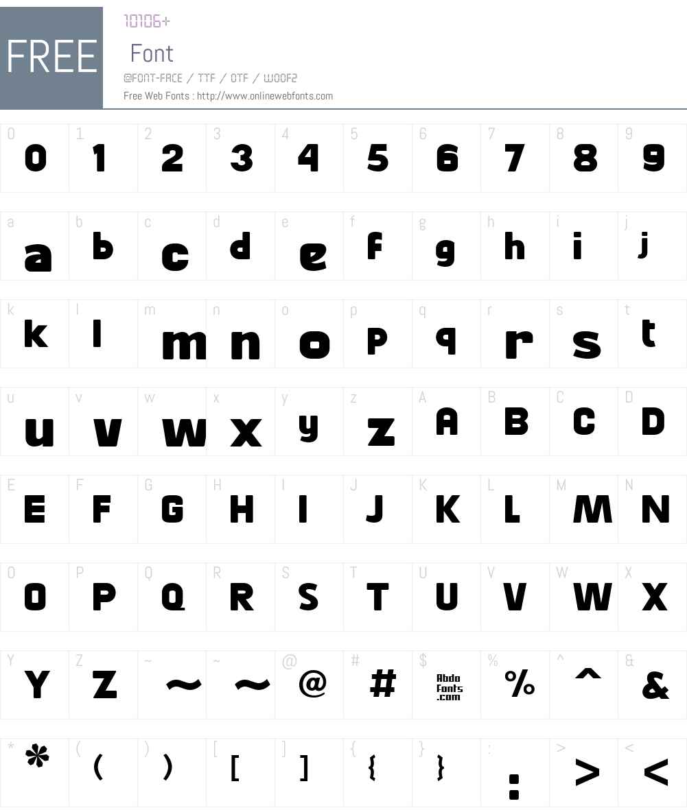 Abdo Master Font Screenshots