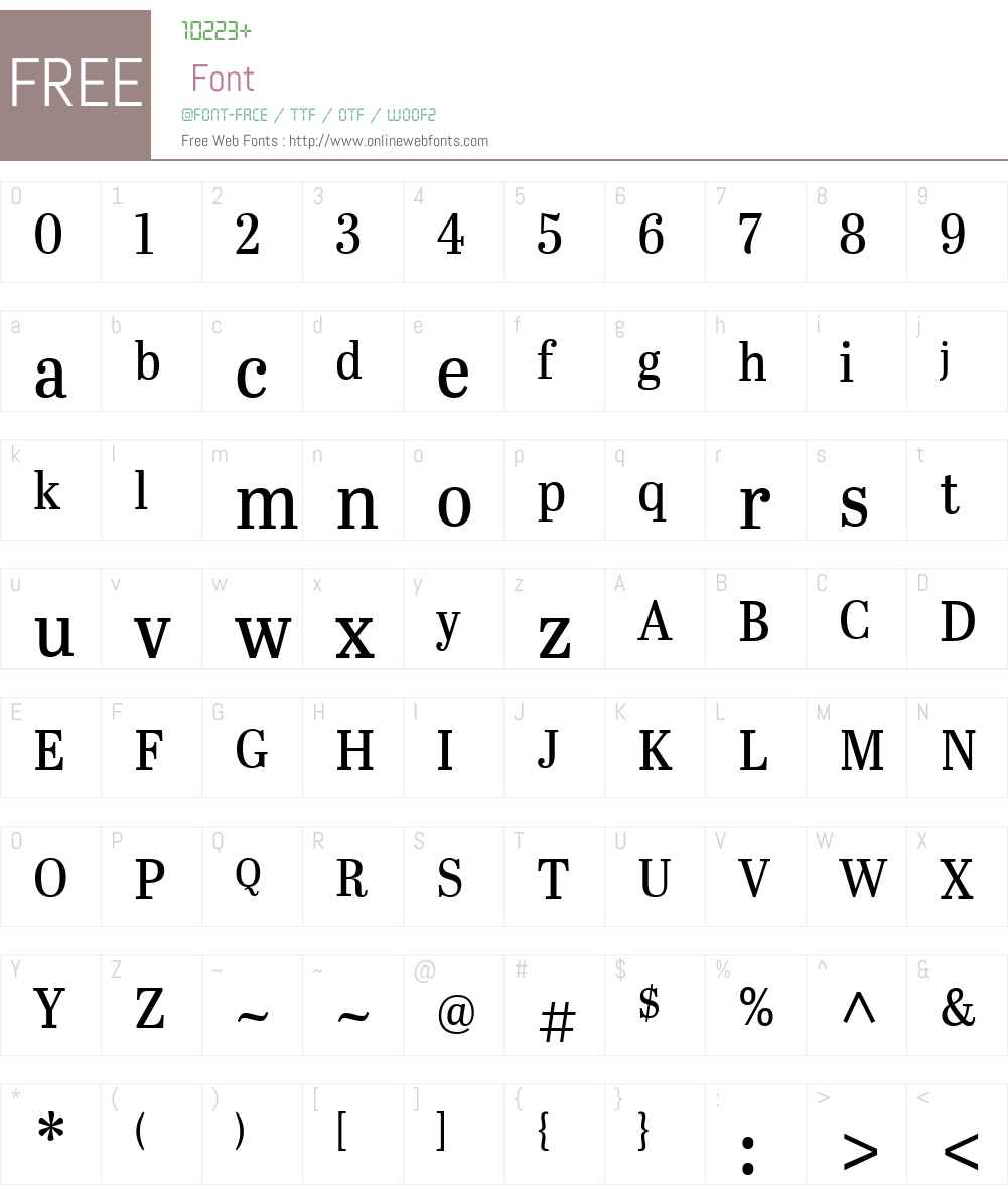 AbrilTitlingSemiCondensedW Font Screenshots