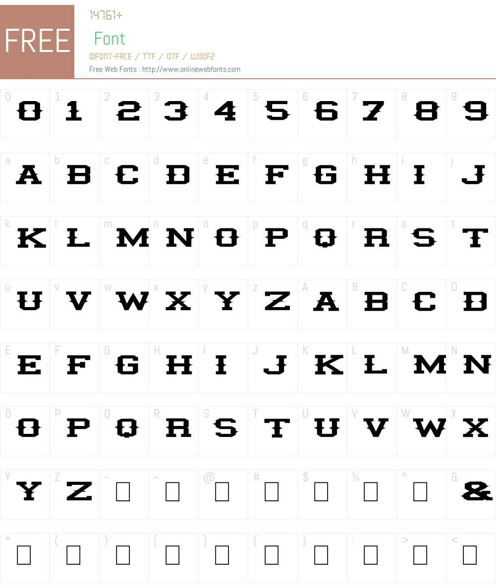 illini spike Font Screenshots