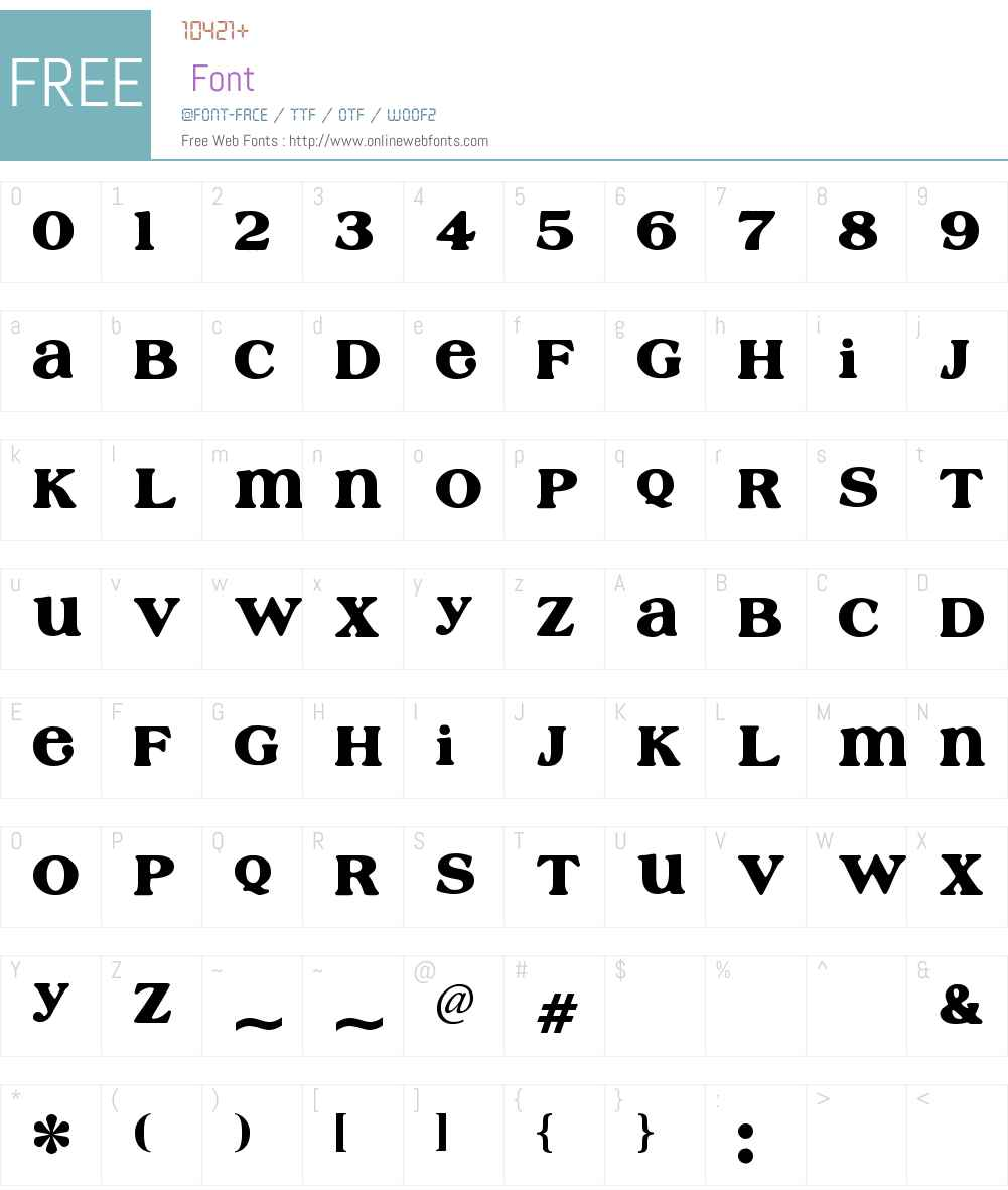 Cafe Rojo Font Screenshots