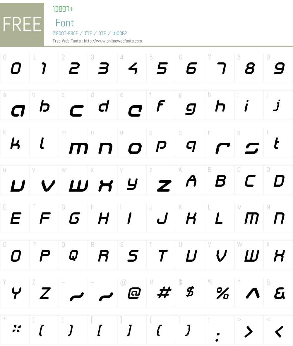SkyWingW00-MediumItalic Font Screenshots