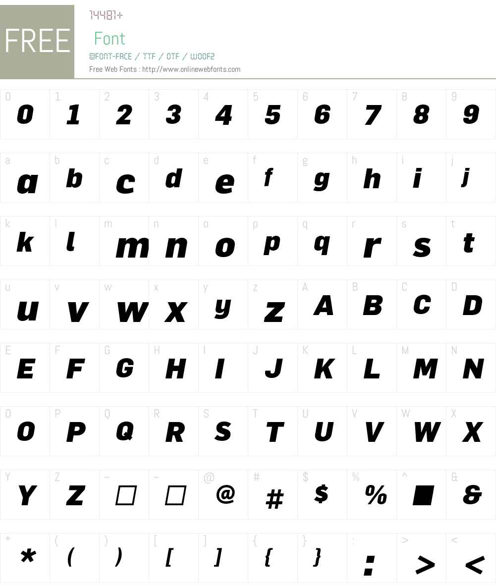 FlamaBlack Font Screenshots