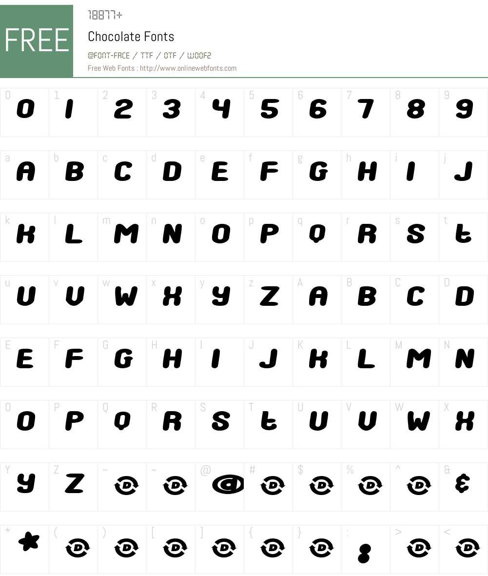 Chocolate Font Screenshots