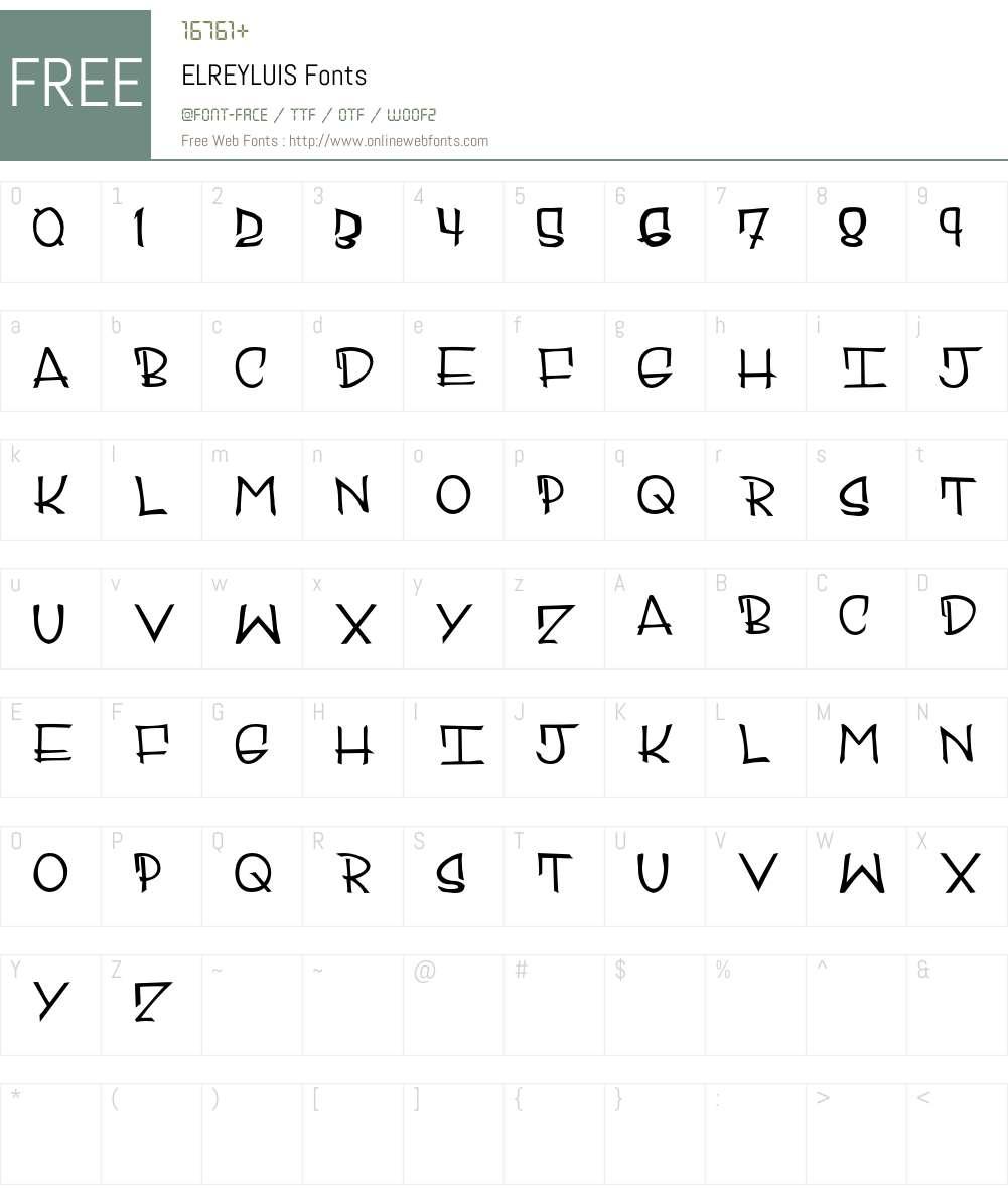 ELREYLUIS Font Screenshots