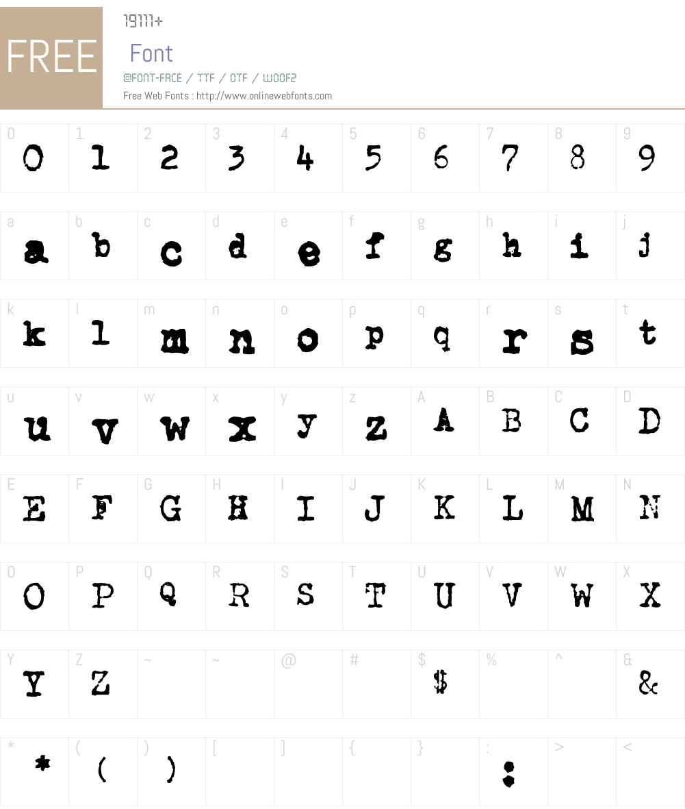 CarbonType Font Screenshots