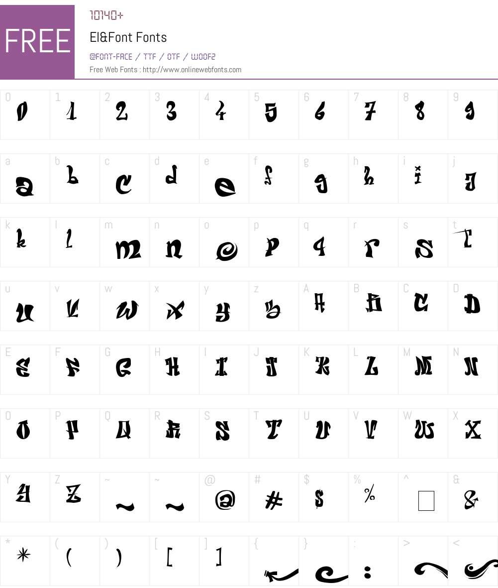 El&Font Font Screenshots