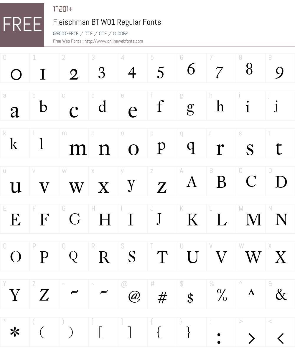 FleischmanBTW01-Regular Font Screenshots