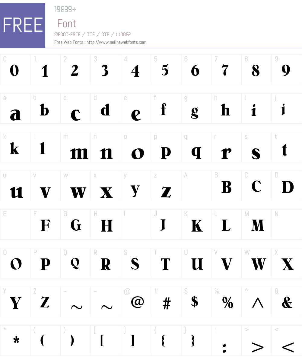 BelliniBoldCondensed Font Screenshots