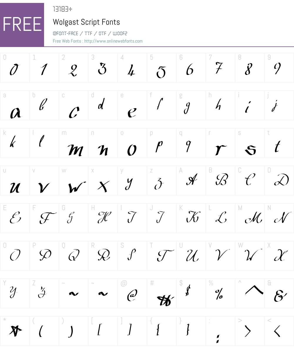 Wolgast Script Font Screenshots