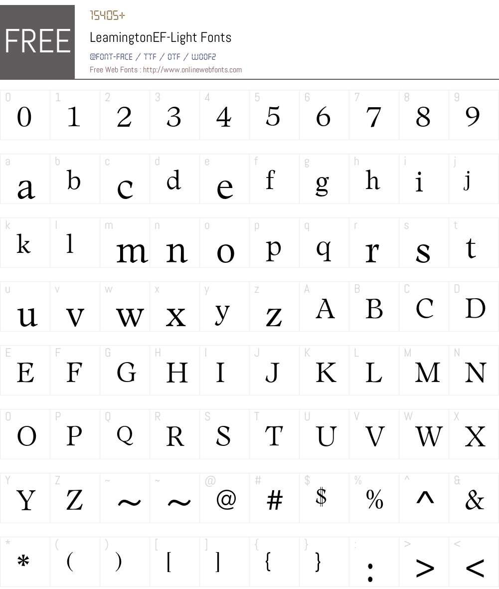LeamingtonEF Font Screenshots
