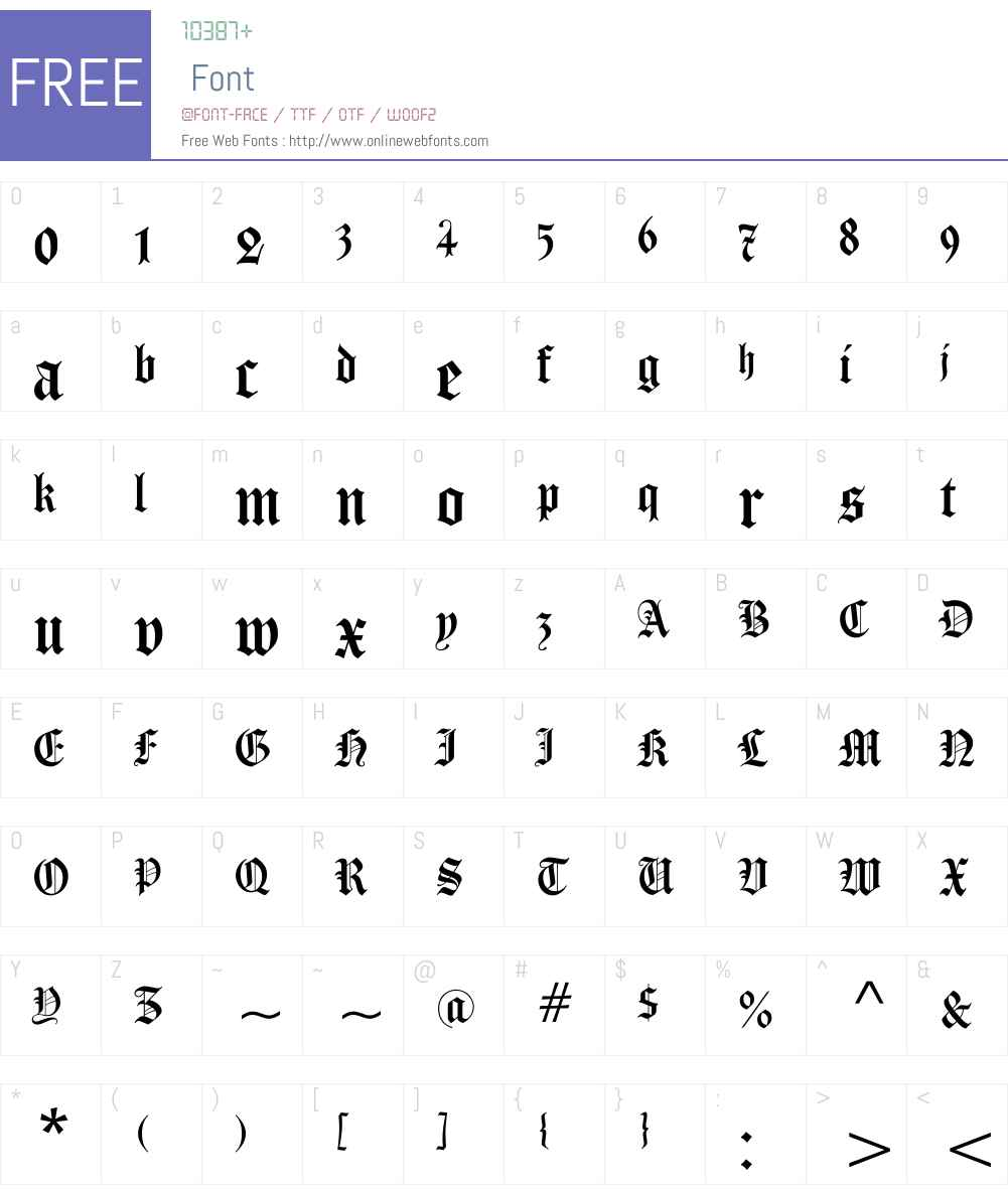 Carol Gothic Font Screenshots