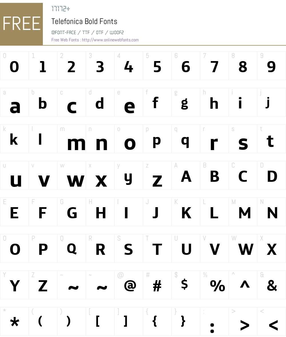 Telefonica Font Screenshots