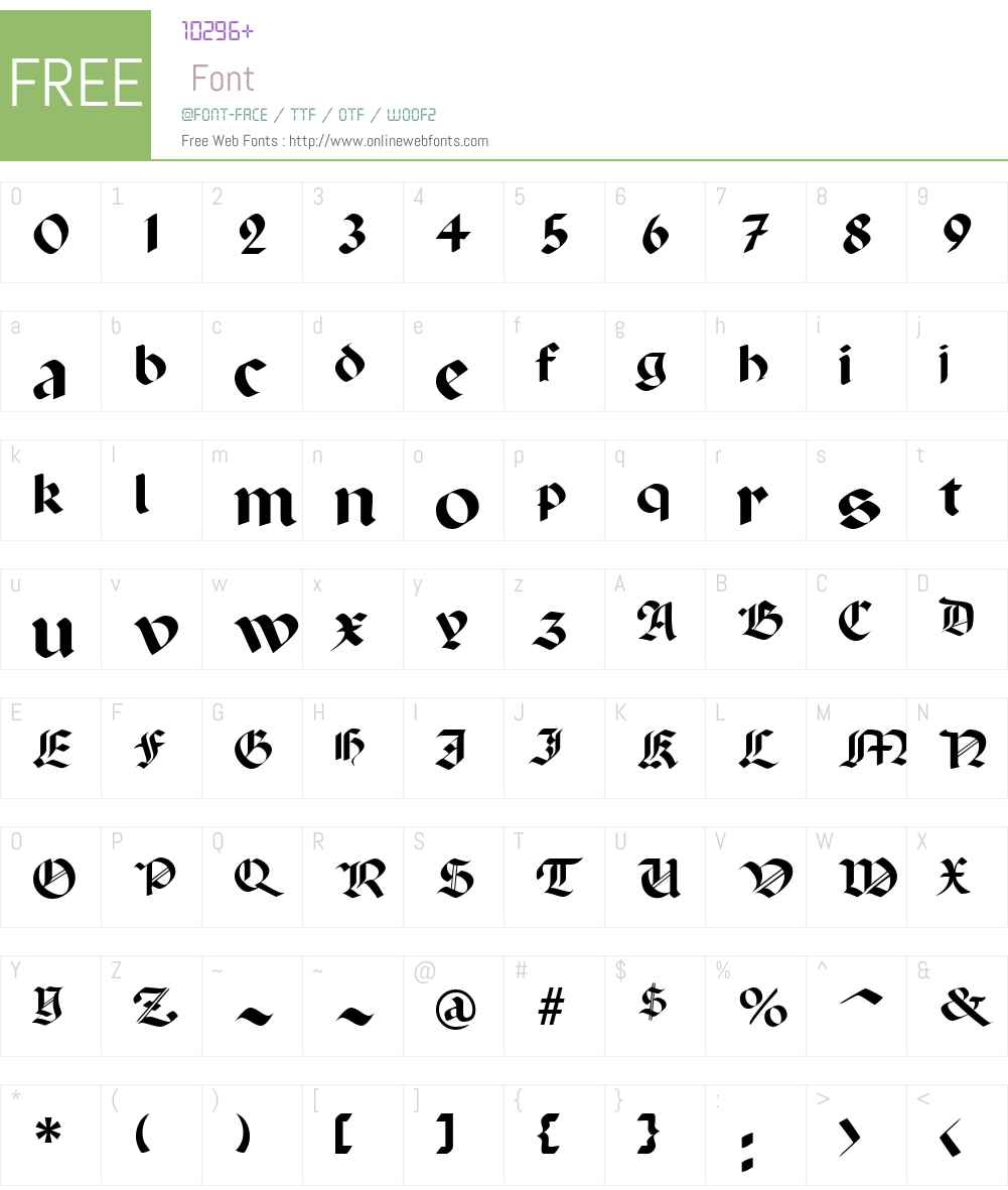 Penchant Font Screenshots