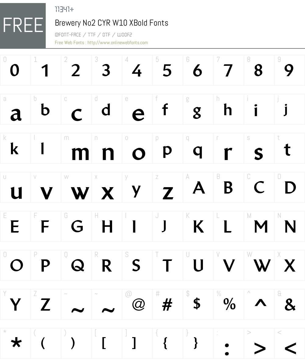 BreweryNo2CYRW10-XBold Font Screenshots