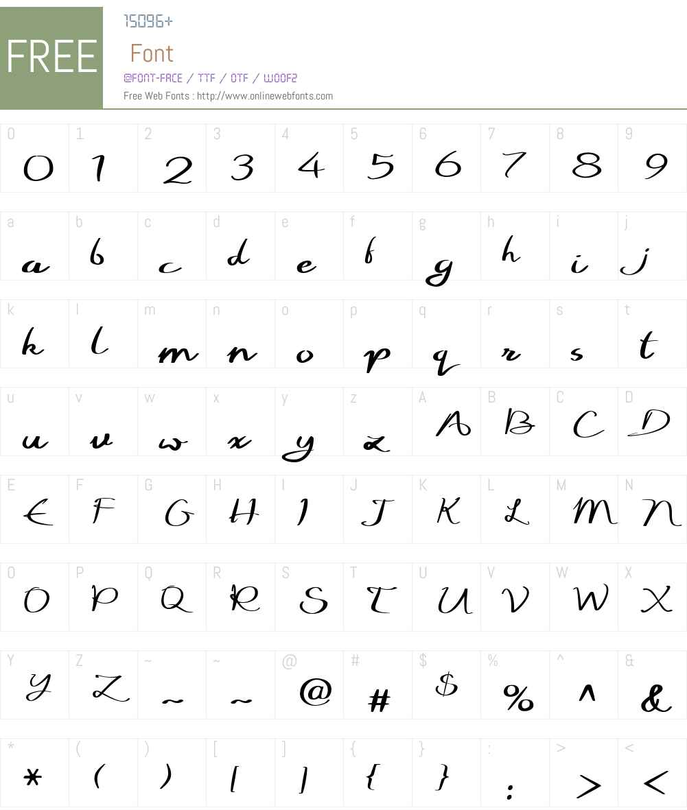 WriteNowW01-Regular Font Screenshots