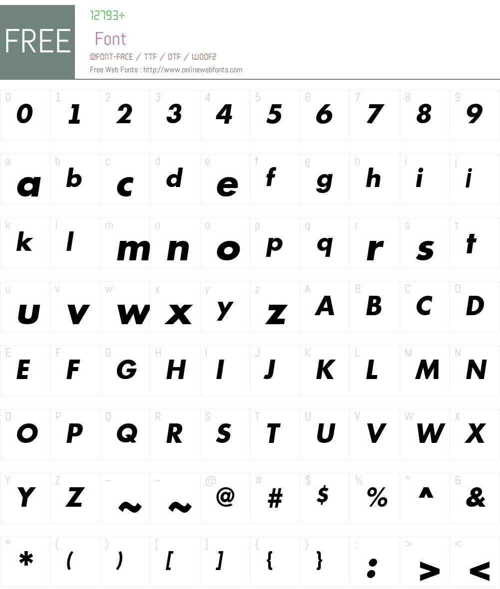 a_Futurica Font Screenshots