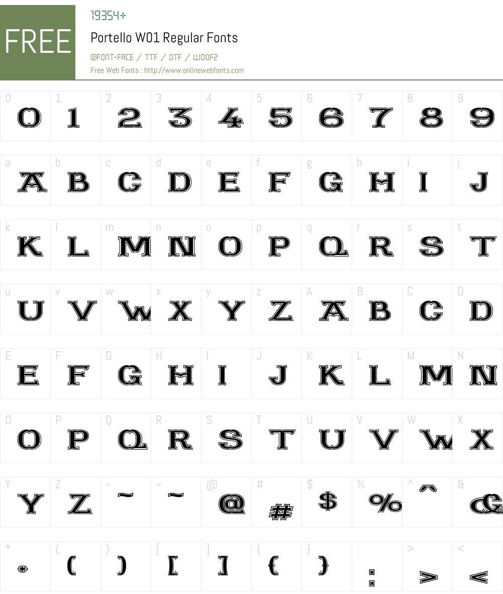PortelloW01-Regular Font Screenshots