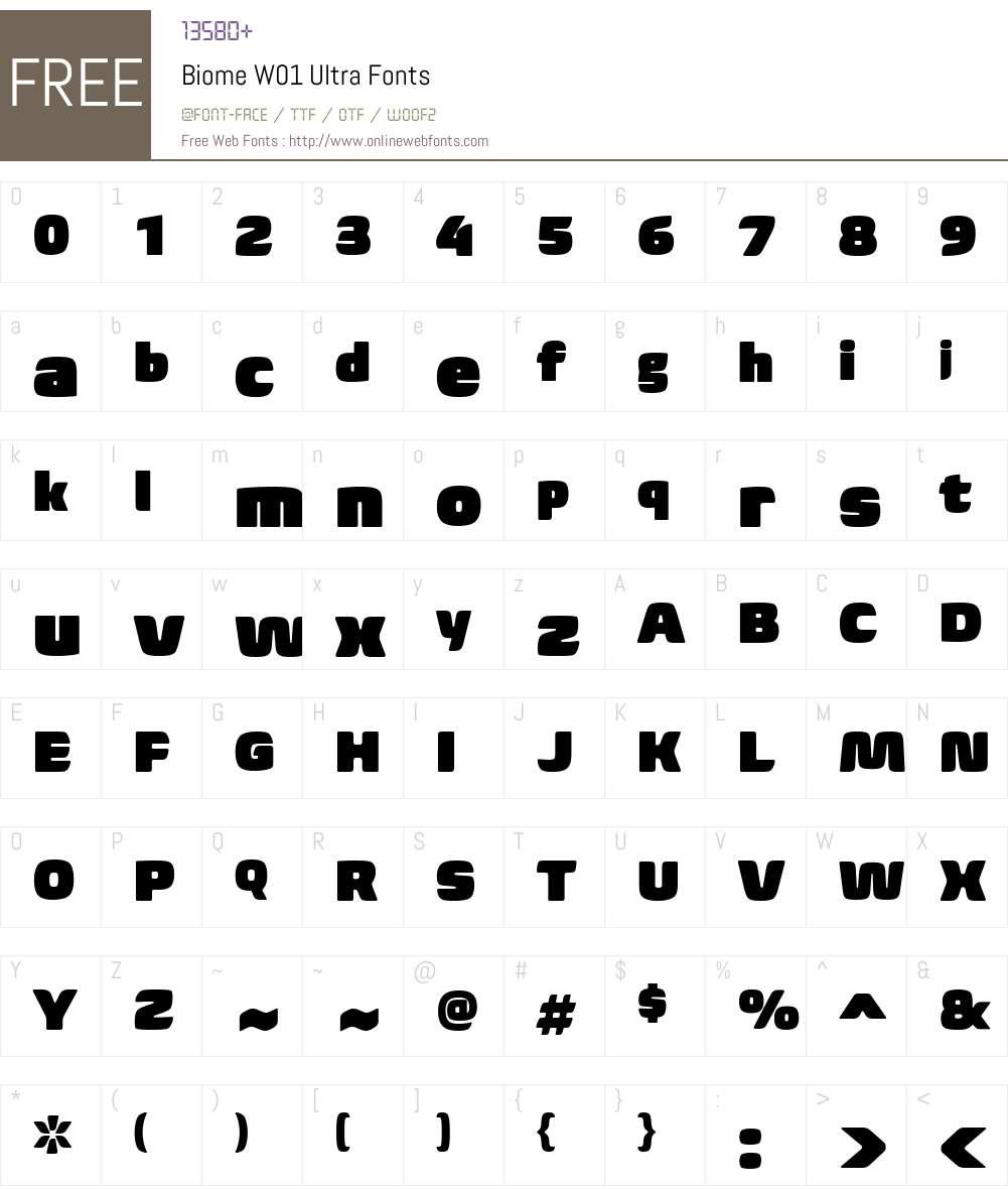 BiomeW01-Ultra Font Screenshots