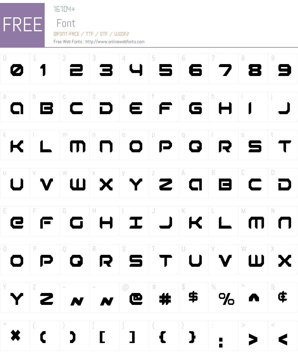 Robotaur Condensed Font Screenshots