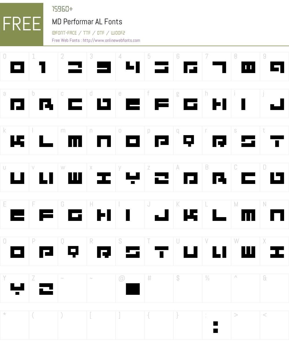 MD Performar AL Font Screenshots