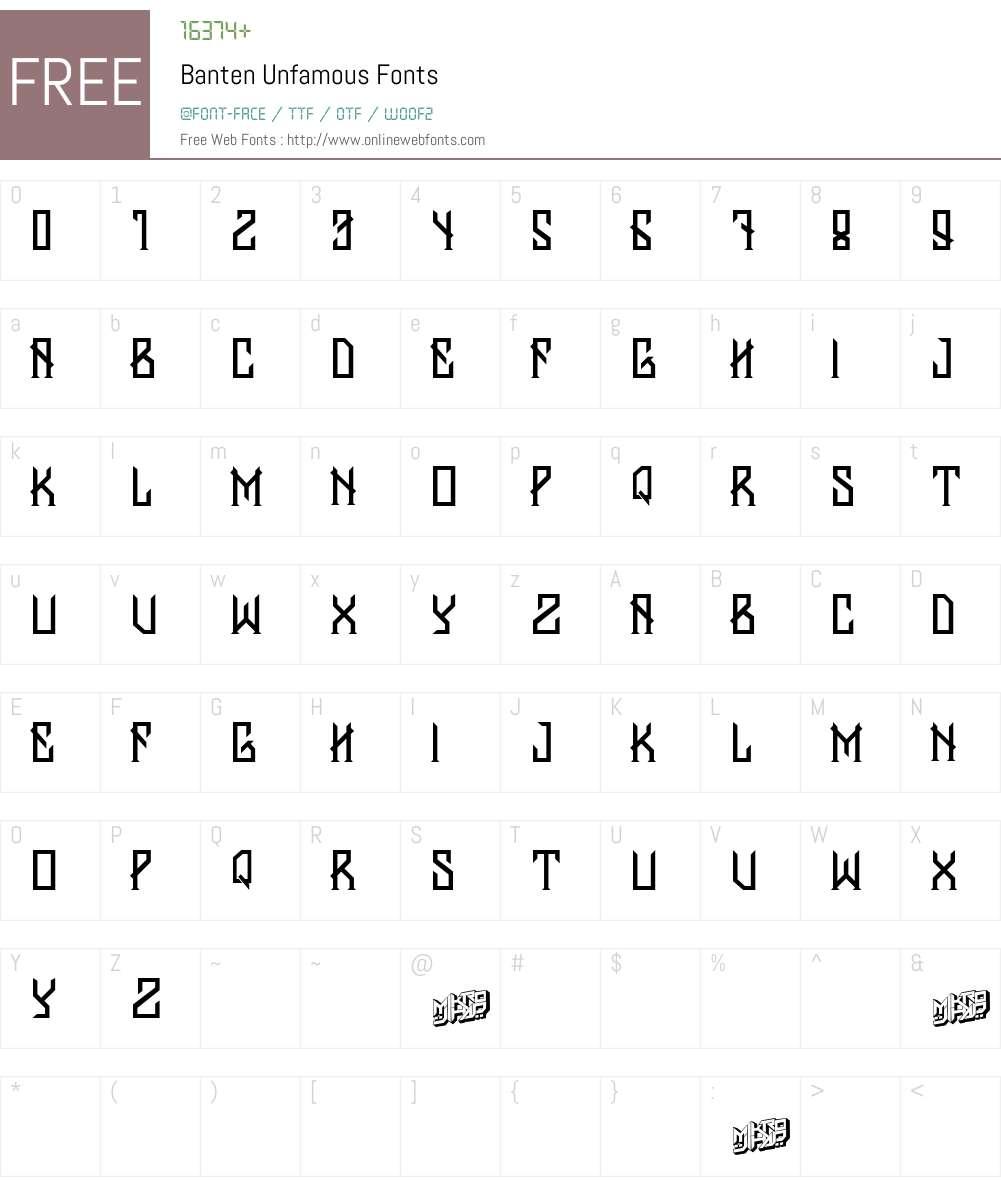 Banten Unfamous Font Screenshots