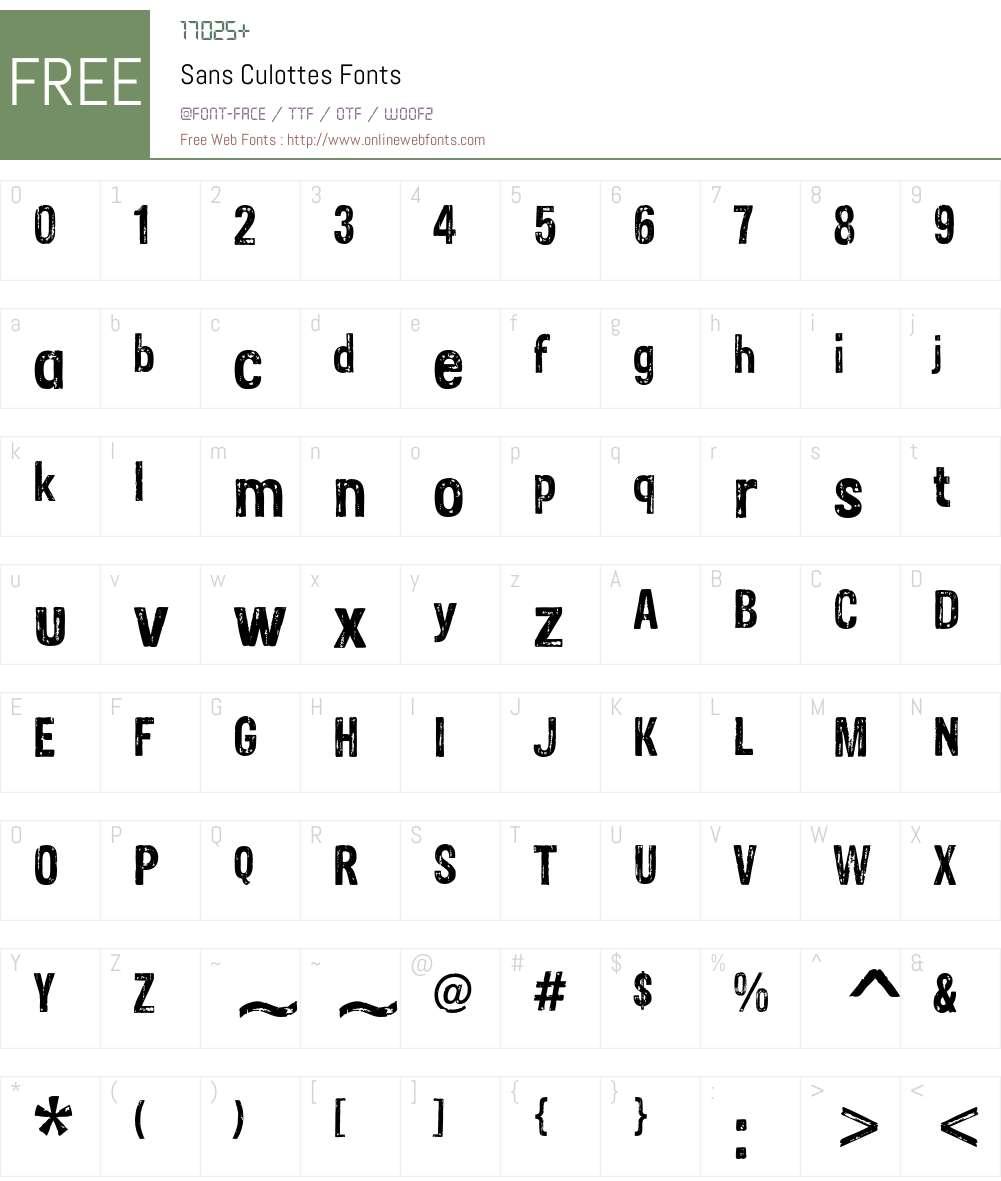 Sans Culottes Font Screenshots